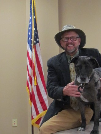 Mayor Blackburn & his best friend Smokie